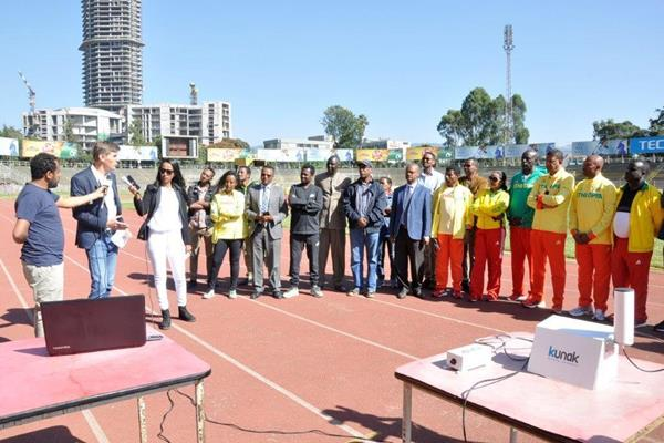IAAF Health & Science Department Director Stéphane Bermon interviewed at Addis Ababa Stadium (Ethiopian Athletics Federation)