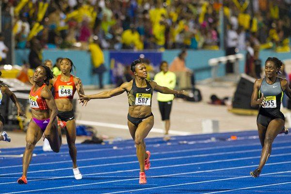 10.81 world leader for Carmelita Jeter in Kingston (Errol Anderson - The SportingImage.net)