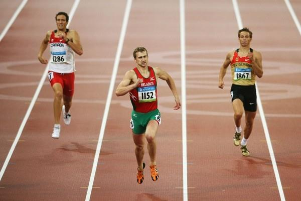Andrey Kravchenko runs a season's best in his decathlon 400m heat to finish day one in second place (Getty Images)