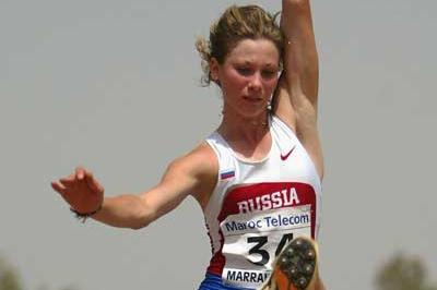 Yana Panteleyeva of Russia during the Long Jump of the Heptathlon (Getty Images)