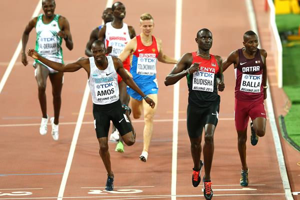 Nijel Amos, David Rudisha and Musaeb Balla in the 800m semi-final at the IAAF World Championships Beijing 2015 (Getty Images)