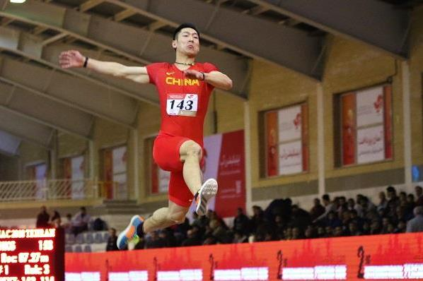 Chinese long jumper Shi Yuhao at the Asian Indoor Championships (Rahul Pawar)