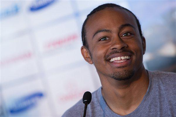Aries Merritt on the eve of the Herculis meeting in Monaco  (Philippe Fitte)