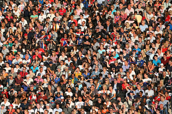 Athletics fans at London's Olympic Stadium (Getty Images)