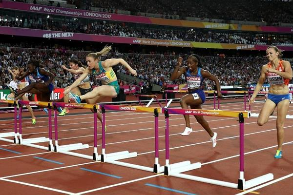 Sally Pearson en route to another 100m hurdles world title at the IAAF World Championships London 2017 (Getty Images)