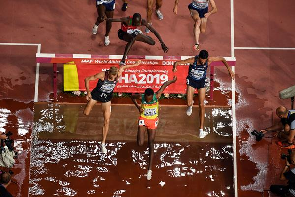 Getnet Wale in the steeplechase at the World Athletics Championships Doha 2019 (AFP / Getty Images)