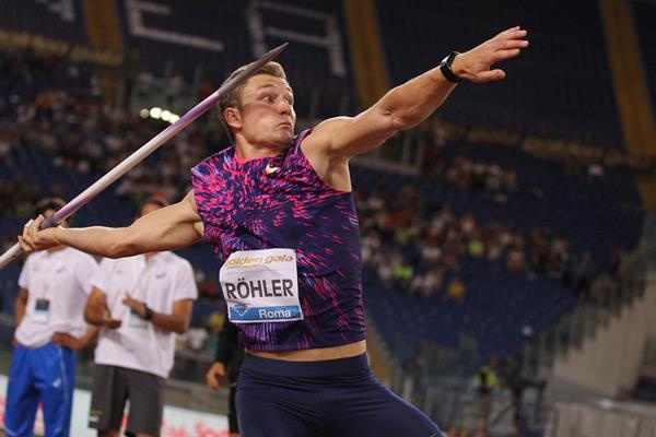 Thomas Rohler throws beyond 90 metres at the IAAF Diamond League meeting in Rome (Jean Pierre Durand)