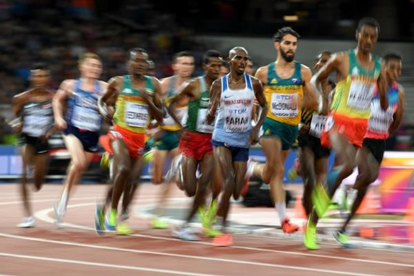 Runners in the first heat of the men's 5000m at the IAAF World Championships London 2017 (Getty Images)