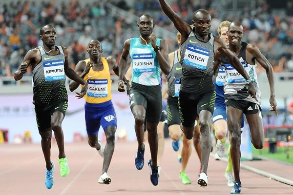 Ferguson Rotich takes victory at the 2016 IAAF Diamond League in Shanghai (Errol Anderson)
