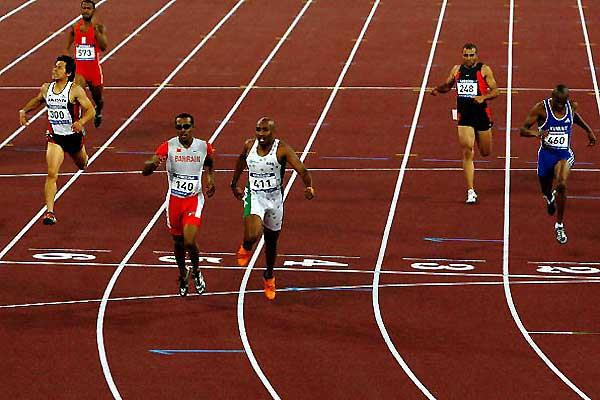 Men's 400m final - Simpson (left) and Al-Bishi (right) in the Asian Games (Getty Images)