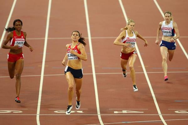 Zuzana Hejnova wins the 400m hurdles at the IAAF World Championships, Beijing 2015 (Getty Images)