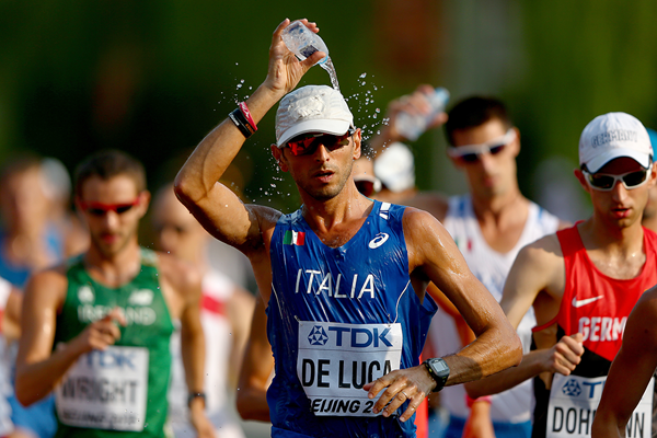 Italy's Marco de Luca in the 50km race walk at the IAAF World Championships Beijing 2015 (Getty Images)
