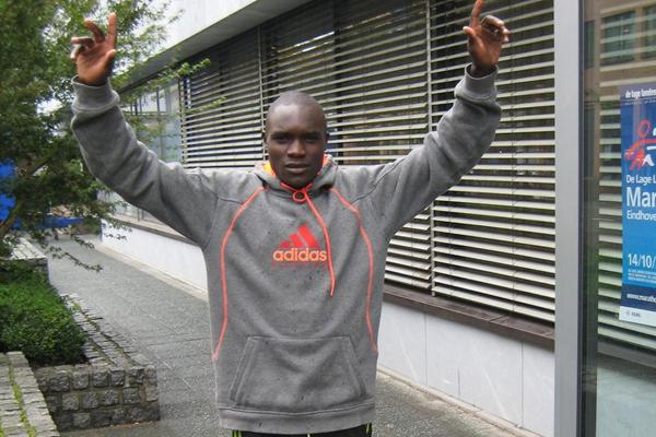 Eric Ndiema on the eve of the Eindhoven Marathon (Marathon Eindhoven / Phil Minshull )