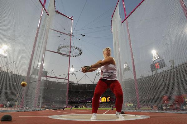 Anita Wlodarczyk in the hammer at the London 2012 Olympic Games (Getty Images )