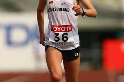 Melanie Kraus of Germany during the 2007 World Champs women's marathon (Getty Images)