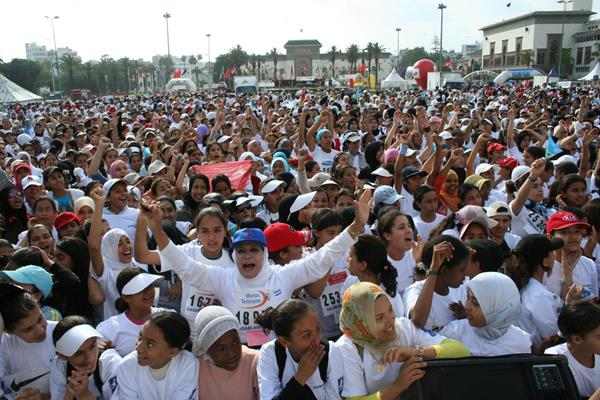 Participants in the Course Féminine 10km in Casablanca (Organisers)