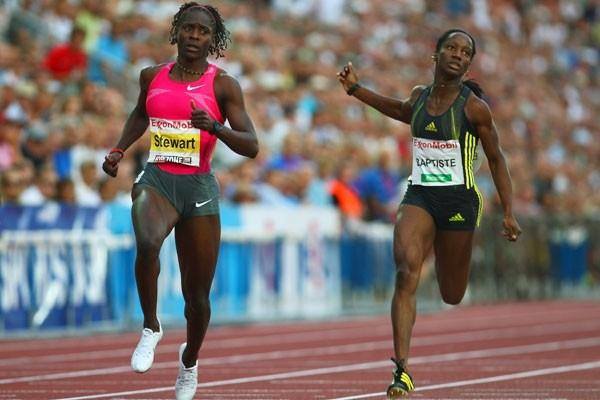 Kerron Stewart notches up her second Golden League 100m victory of the year (Getty Images)