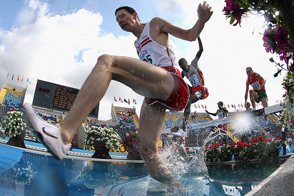 The men's 3000m steeplechase at the IAAF World Junior Championships in Bydgoszcz (Getty Images)
