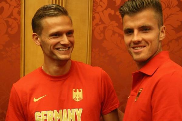 German decathletes Pascal Behrenbruch and Rico Freimuth (Getty Images)