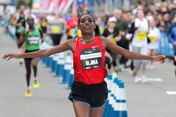 2012 Houston Half Marathon champion Belaynesh Oljira (Victah Sailer)