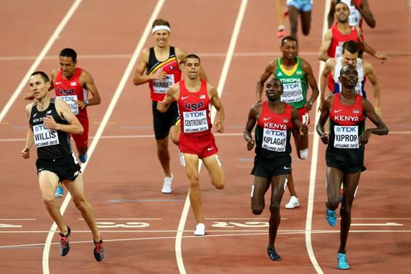 Asbel Kiprop wins his 1500m semi-final at the IAAF World Championships, Beijing 2015 (Getty Images)