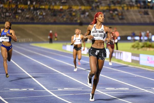 Shaunae Miller-Uibo wins the 400m at the Racers Grand Prix (Anthony Foster)