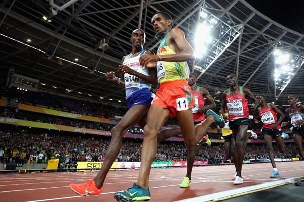 Mo Farah in the 10,000m at the IAAF World Championships London 2017 (Getty Images)
