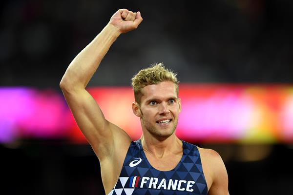 Kevin Mayer after winning the decathlon at the IAAF World Championships London 2017 (Getty Images)