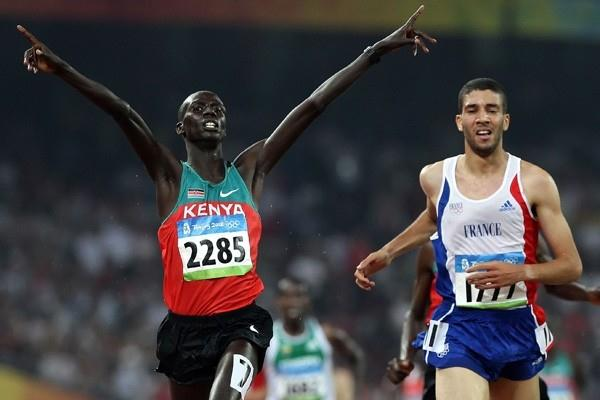 Brimin Kipruto of Kenya adds the Olympic title to his world gold medal (Getty Images)