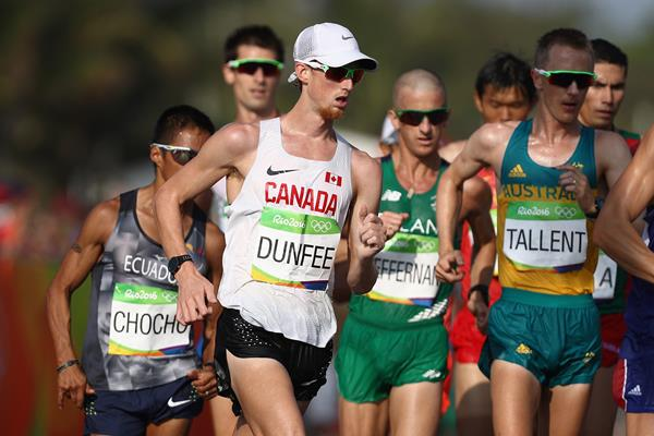 Evan Dunfee in the 50km race walk at the Rio 2016 Olympic Games (Getty Images)
