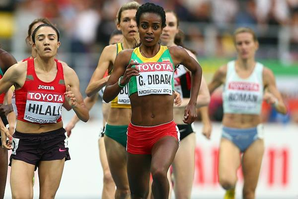 Genzebe Dibaba in action at the IAAF World Championships (Getty Images)