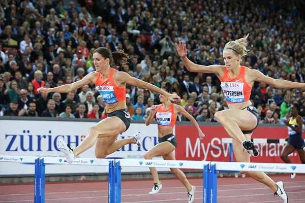 Zuzana Hejnova wins the 400m hurdles at the IAAF Diamond League meeting in Zurich (Jean-Pierre Durand)
