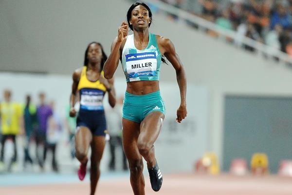 Shaunae Miller takes victory in the 400m at the IAAF Diamond League in Shanghai (Errol Anderson)