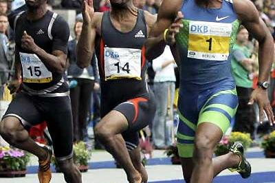 Asafa Powell powers to a share of the Jackpot in Berlin (Bongarts/Getty Images)
