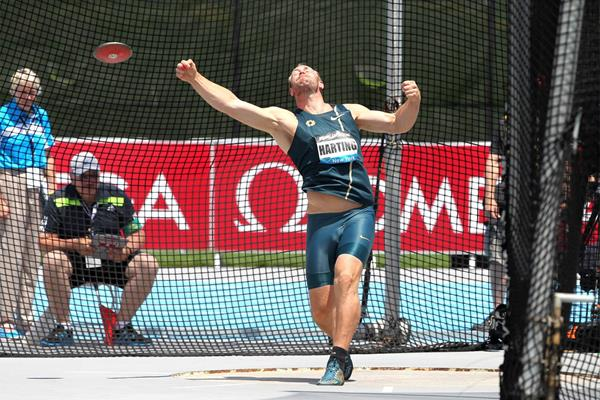 Robert Harting wins the discus at the IAAF Diamond League meeting in New York (Victah Sailer)