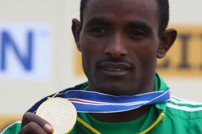 Men's junior champion Ibrahim Jeilan of Ethiopia - Edinburgh 2008 (Getty Images)