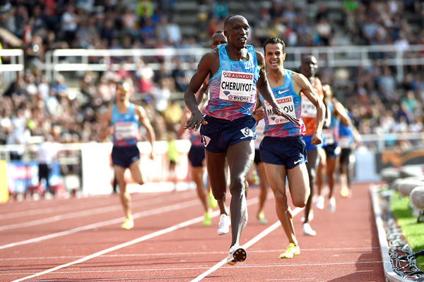 Timothy Cheruiyot wins the 1500m at the IAAF Diamond League meeting in Stockholm (Hasse Sjogren)