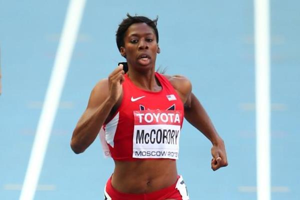 Francena McCorory in the womens 400m at the IAAF World Athletics Championships Moscow 2013 (Getty Images)