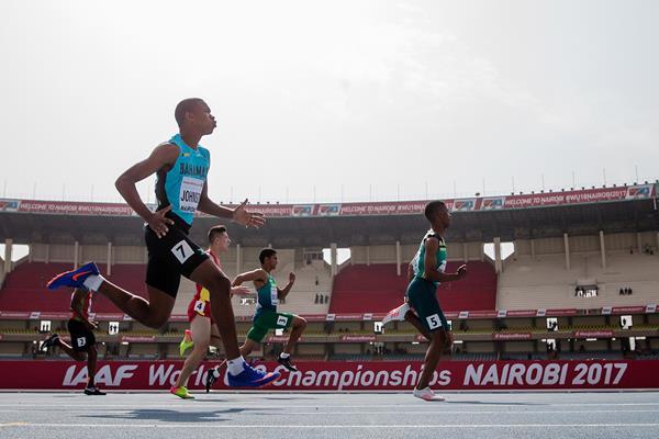 Retshidisitswe Mlenga in the 100m at the IAAF World U18 Championships Nairobi 2017 (Getty Images)