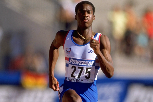 Christian Malcolm at the IAAF World Junior Championships (Getty Images)