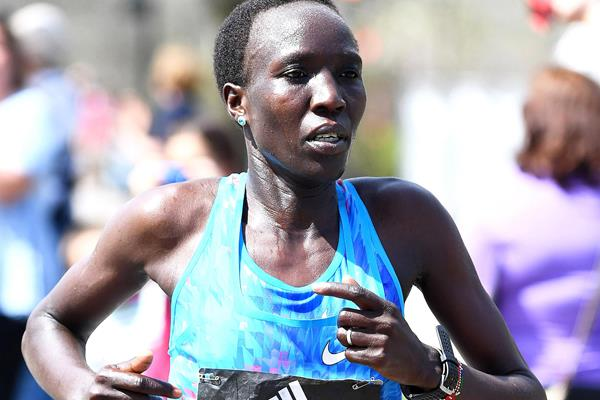Edna Kiplagat in Boston (Victah Sailer)