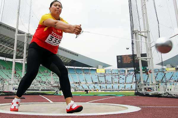 Wenxiu Zhang (CHN) - Hammer Throw qualification (Getty Images)