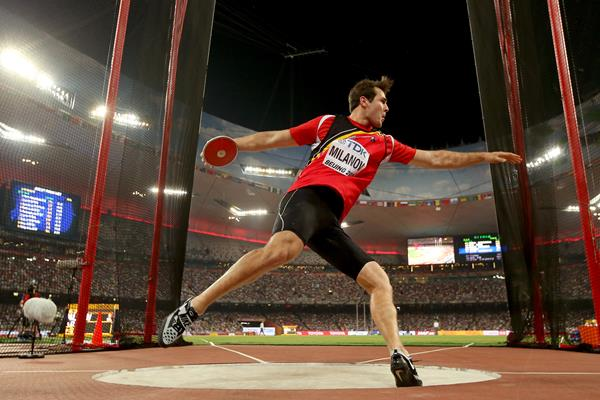 Philip Milanov in the discus at the IAAF World Championships, Beijing 2015 (Getty Images)