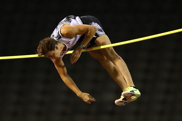 Mondo Duplantis in action at the Diamond League meeting in Brussels (Getty Images)