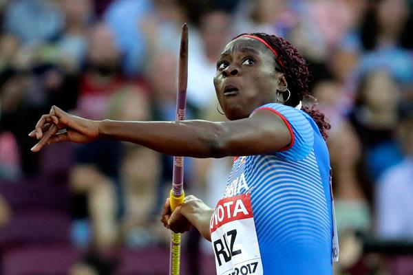 Colombian heptathlete Evelis Aguilar (Getty Images)