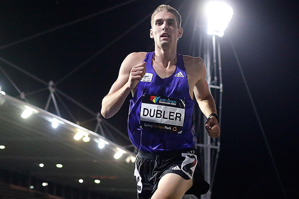 Cedric Dubler in the decathlon 1500m at the Australian Combined Event Championships (Getty Images)