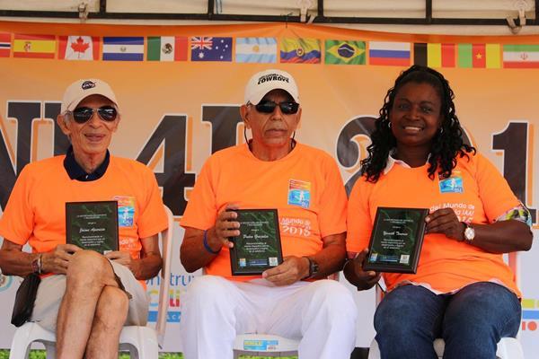 Jaime Aparicio, Pedro Grajales & Janeth Tenorio Caicedo (the IAAF World Youth Championships, Cali 2015 LOC)