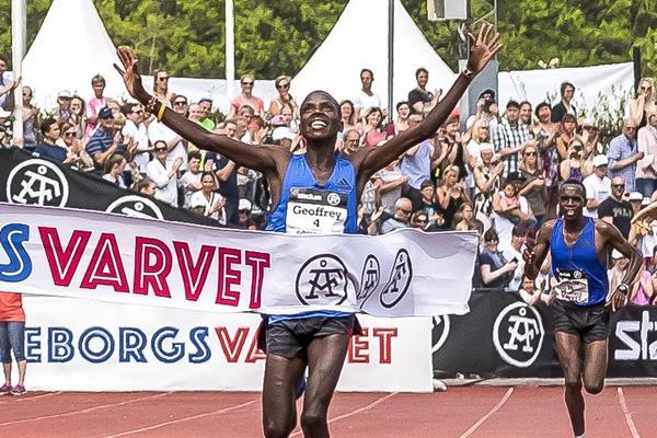Geoffrey Yegon winning the Gothenburg Half Marathon (organisers)