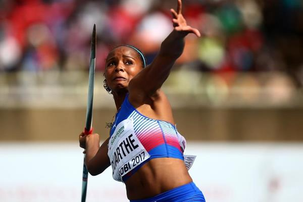 Marisleisys Duarthe in the javelin at the IAAF World U18 Championships Nairobi 2017 (Getty Images)