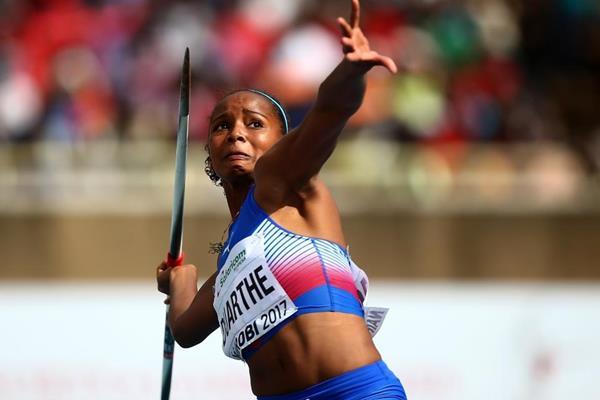 Marisleisys Duarthe in the javelin at the IAAF World U18 Championships Nairobi 2017 (Getty Images)